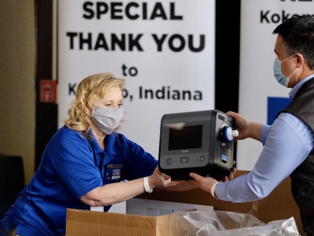V+Pro Critical Care Ventilators arrive at Gary-Chicago Airport
