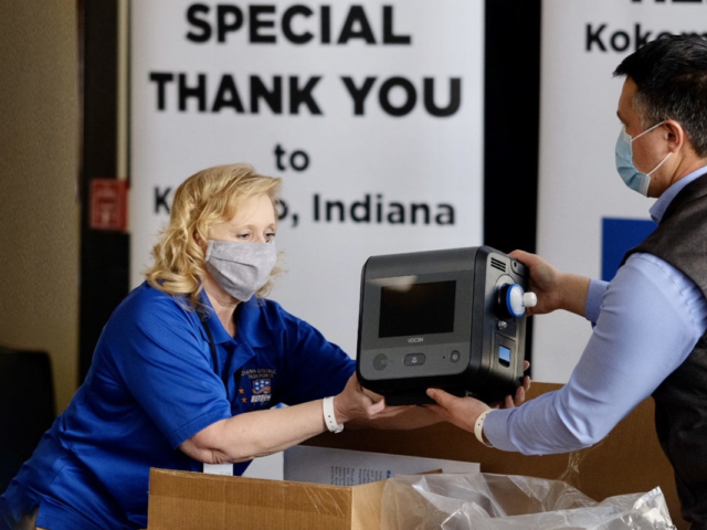 V+Pro Critical Care Ventilators arrive at Gary-Chicago Airport